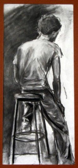 Charcoal on paper of a size I can't remember